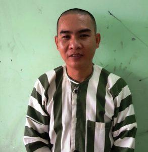 Tú ông Huỳnh Quang Tú tại cơ quan Công an