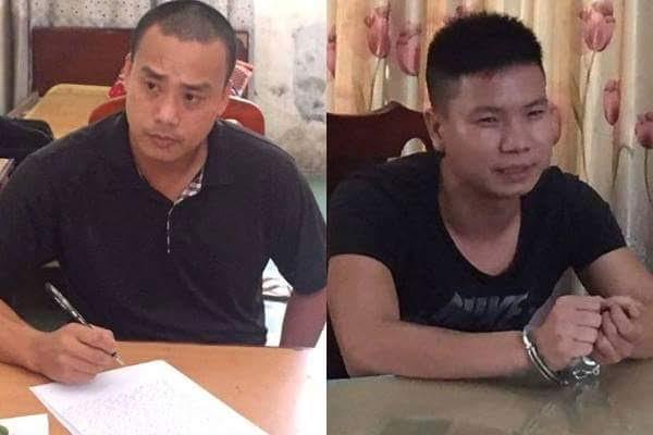 Cường và Thái ở cơ quan điều tra