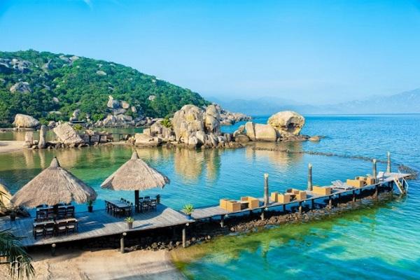 Khung cảnh lãng mạn của vùng biển Maldives Việt Nam
