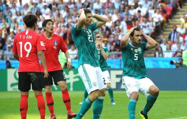 Đổi tuyển Đức thất bại thảm hại trước Hàn Quốc