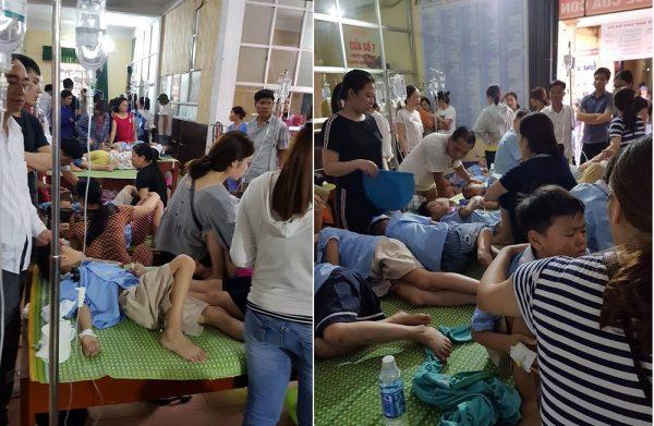 Khoảng 200 học sinh tiểu học ở Ninh Bình nhập viện sau bữa ăn trưa