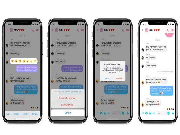 Facebook triển khai tính năng hủy tin nhắn đã gửi trên Messenger