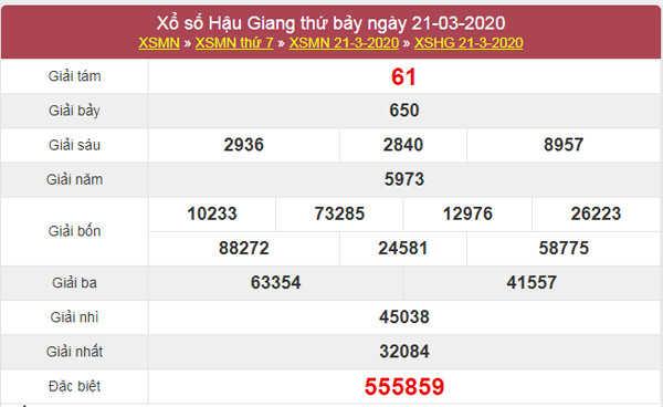 Soi cầu XSHG hôm nay 28/3/2020 - XS Hậu Giang thứ 7