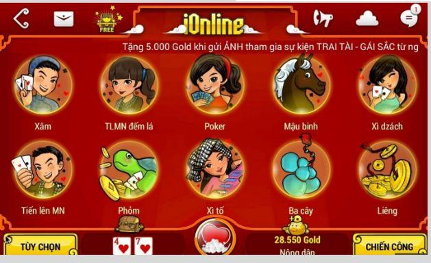 Game đánh bài online iOnline - Đừng bỏ lỡ cơ hội làm giàu!