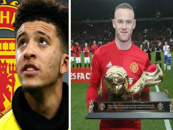 """""""Thần đồng"""" Jadon Sancho quá giống Rooney"""