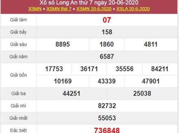 Soi cầu XSLA 27/6/2020 chốt lô số đẹp Long An cực chuẩn