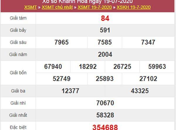 Thống kê XSKH 22/7/2020 chốt KQXS Khánh Hoà thứ 4
