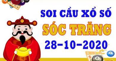 Soi cầu XSST ngày 28/10/2020 –  Soi cầu Sóc Trăng cùng chuyên gia