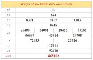 Dự đoán XSCT ngày 18/11/2020 dựa trên bảng kết quả kỳ trước