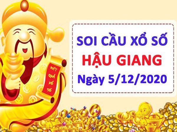 Soi cầu XSHG ngày 5/12/2020 - Soi cầu lô VIP xổ số Hậu Giang