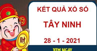 Soi cầu sổ xố Tây Ninh thứ 5 ngày 28/1/2021