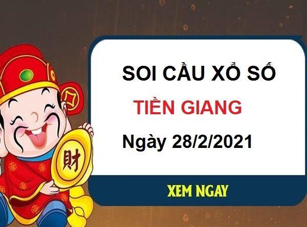 Soi cầu XSTG ngày 28/2/2021