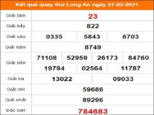 Quay thử xổ số Long An ngày 27/2/2021