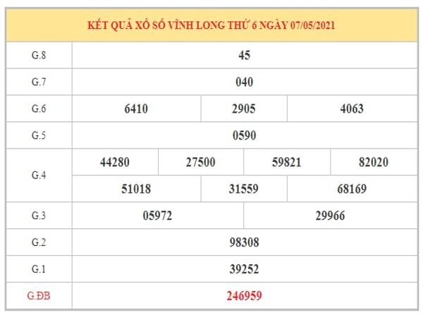 Phân tích KQXSVL ngày 14/5/2021 dựa trên kết quả kì trước
