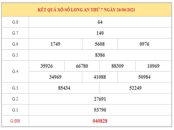 Nhận định KQXSLA ngày 3/7/2021 dựa trên kết quả kì trước